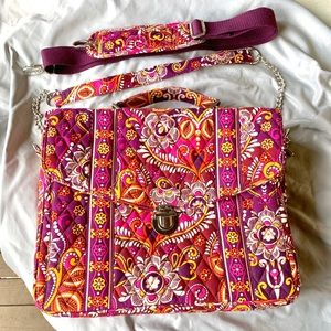 "NWOT Vera Bradley briefcase ""safari sunset"""